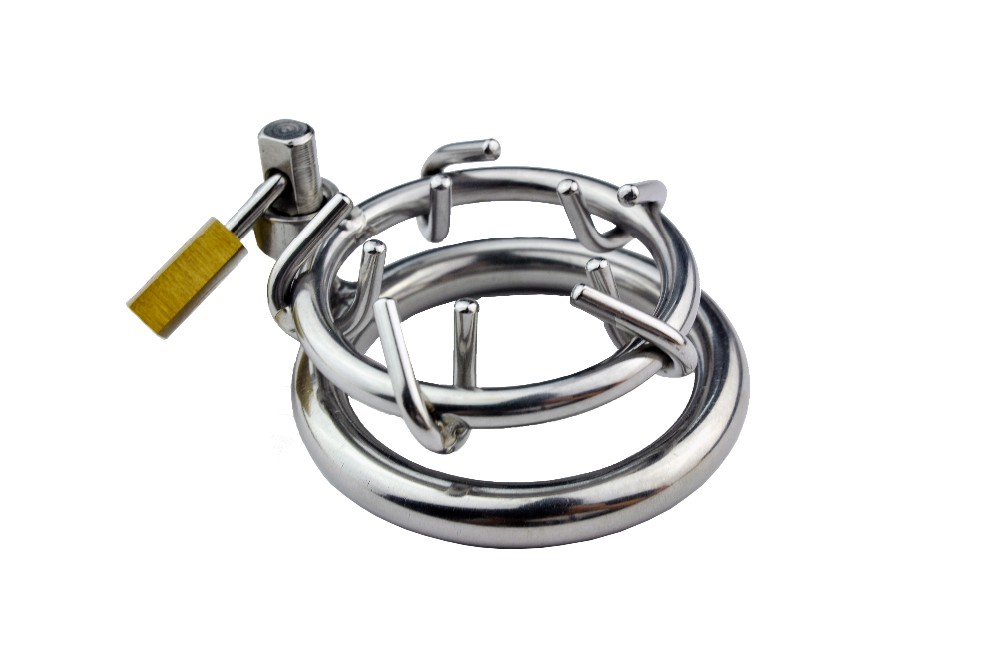 Adult Games Stainless Steel Chastity Cage Cock Cage,Chastity Belt,Penis Ring,Virginity Lock A157