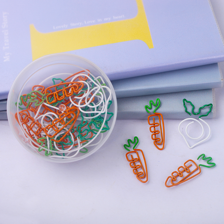 Carrot Bookmark White Radish Paperclip Paper Bookmark School Creative Lovely Office Accessories Metal Paper Clips Paper Clip