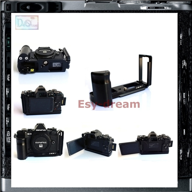 Pro Vertical L Type Bracket Tripod Quick Release Plate Base Grip Handle For  Olympus OMD EM5 Mark II MarkII O MD E M5 Camera-in Tripod Monopods from
