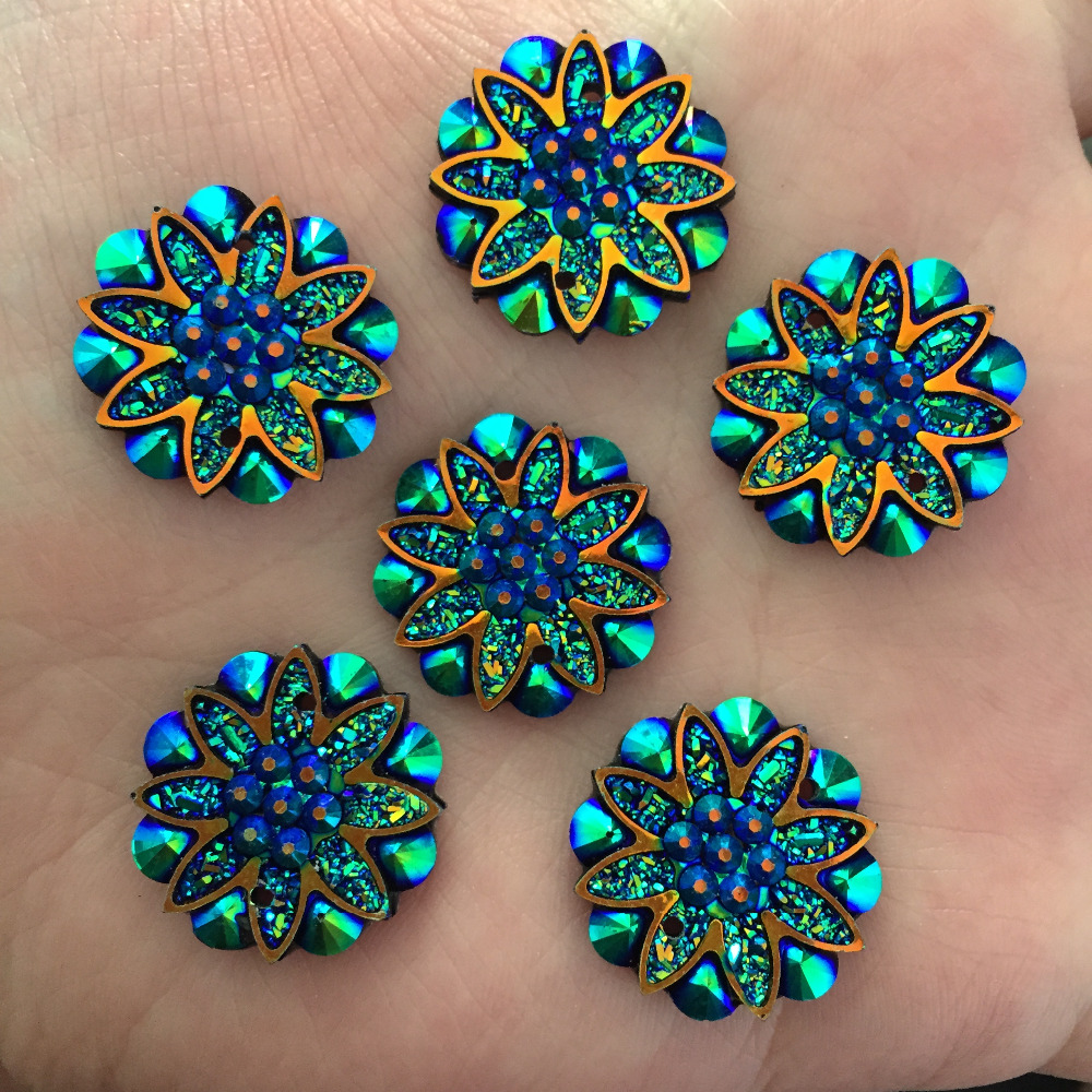 10pcs Starry Hearts Acrylic Gem Crystal Flatback Craft Embellishments Cabochons