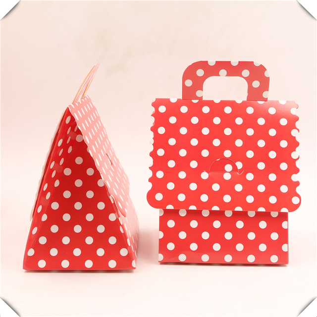Us 12 85 12pcs Polka Dots Theme Decoration Candy Box Kids Favors Happy Birthday Party Red Paper Gifts Boxes Baby Shower Wedding Supplies In Gift