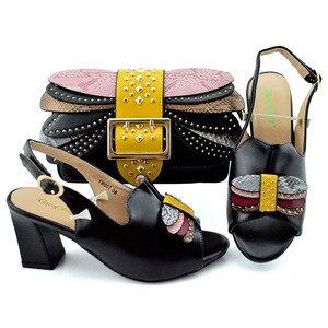 Новое поступление, комплект женской итальянской обуви с подходящими сумками, украшенной стразами, Женская обувь в итальянском стиле, женск...