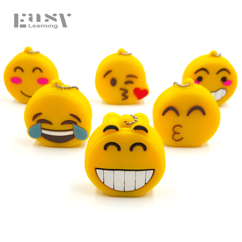 Easy Learning USB flash drive USB 2.0 Emoji Emotion Expression Pen Drive 4GB 8GB 16GB 32GB 64GB Memory Stick Pendrive Gifts usb flash drive pen drive pendrive car key 4gb 8gb 16gb 32gb 64gb memory card u stick hot sale top quality memory stick gift