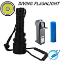 CREE XML L2 LED 5000 Lumen 100 meters Underwater Diving diver 18650 Flashlight Torch Light Lamp Waterproof