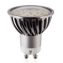 6 шт./лот GU10 светильник точечной подсветки регулируемый 7 Вт Светодиодный светильник 110 В 220 В светодиодный светильник SMD5050 супер яркое освещение высокого качества алюминий