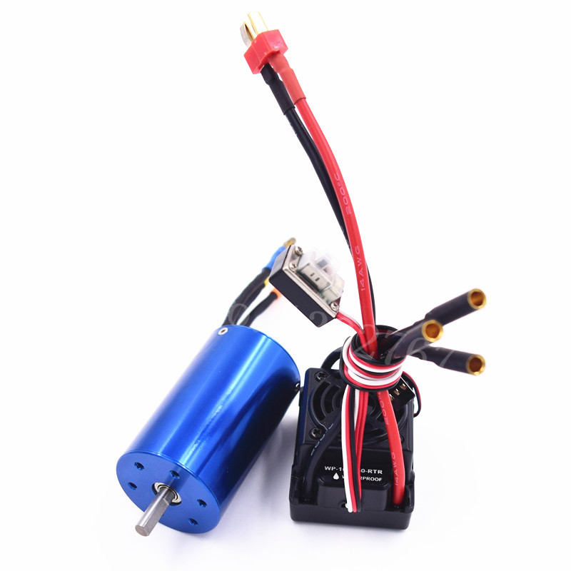 Waterproof ESC SBEC 60A 6V/3A Brushless Lipo NiMH 3660Motor 3300KV For 1/8 Scale Model Remote Control RC Car Plane WP-10BL60-RTRWaterproof ESC SBEC 60A 6V/3A Brushless Lipo NiMH 3660Motor 3300KV For 1/8 Scale Model Remote Control RC Car Plane WP-10BL60-RTR
