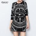 Harajuku Women Black White Clock Print Pattern Diamante Long Sleeve Best Friends Spring Sweatshirt Korean Streetwear Hoodie