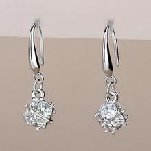 2017 new arrival hot sell fashion shiny CZ diamond zircon 925 sterling silver ladies`drop earrings women jewelry gift wholesale