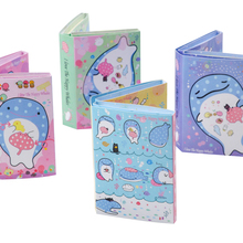 1pack/lot Kawaii Cartoon Whales Series Fold Memo Cute Notepad Sticky Note Pad Writing Scratch Pad For School And Office Supply kawaii cartoon red hood girl memo notepad note book