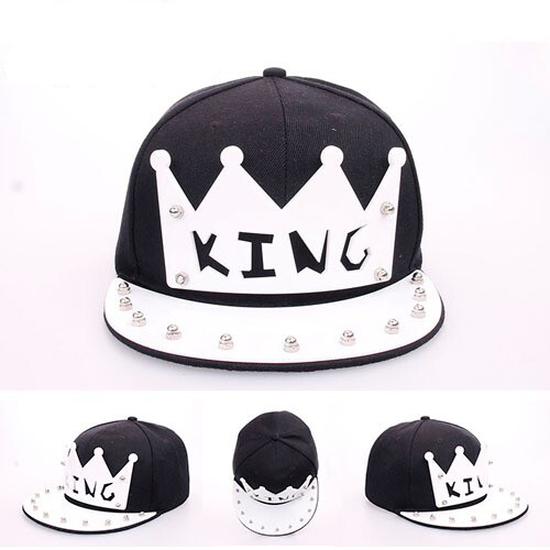 New Hot sale Crystal acrylic letter King snapback caps for women men popular brand unisex hip hop baseball cap snapbacks hats