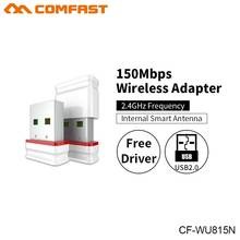COMFAST CF-WU815N Wifi Adapter Mini Wireless 802.11n USB Network Card 150Mbps 2.4G Windows PC Receiver Wifi Dongle Plug And Play