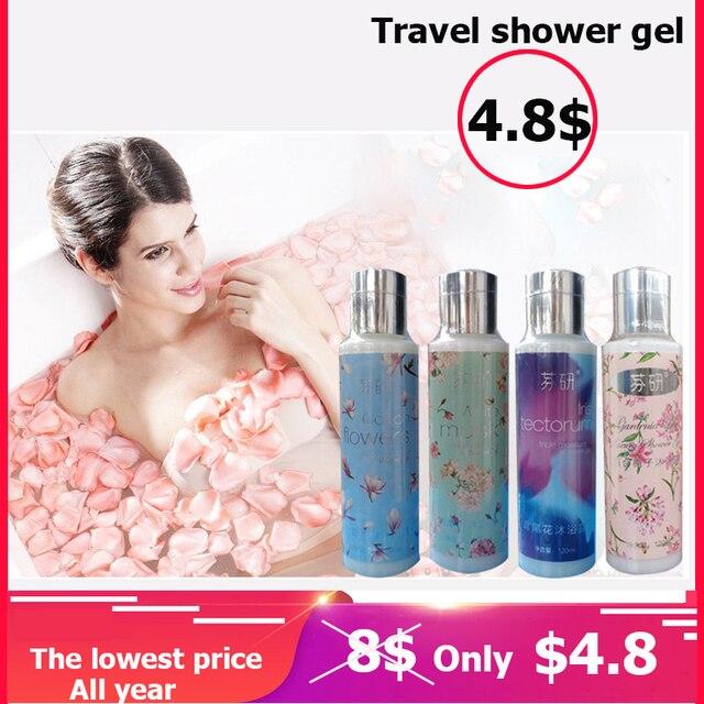 2018 New Freyja Travel Shower gel 120ml 4 kinds Fragrant Whitening Bath Lotion Body Skin Care Moisturizing Deep Cleaning