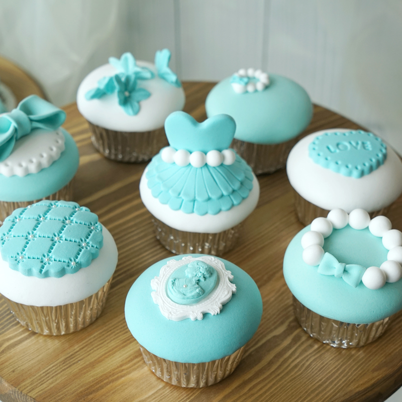 Artificial fake cake simulation model decorative mini cupcake blue marry Wedding decoration Dessert table decoration furnishings