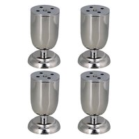 100 Mm Height Adjustable Silver Stainless Steel Funiture Legs Cabinet Sofa Table Feet Pack Of 4
