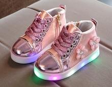 2019 lighted children shoes luminous sneakers girls led lighted shoes baby luminous sneaker Floral Charged pu led shoe led luminous graffiti athletic shoes