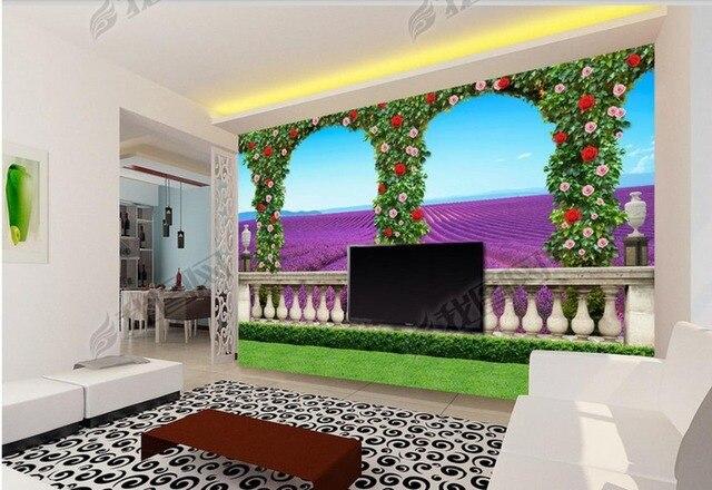 Personalizzato foto 3d murale sfondi per il soggiorno balcone della