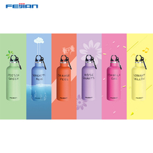 FEIJIAN 500ml colorful sport thermo bottle Vacuum Insulated Double Wall Stainless Steel Flask with Carabiner shaker homfun 5d diy diamond painting full square round drill woman scenery embroidery cross stitch gift home decor gift a09203