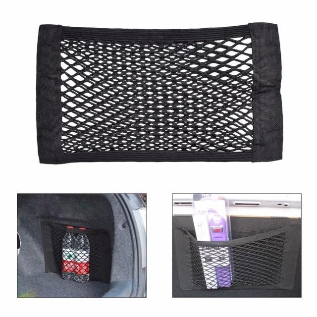 DWCX Nylon Mesh Car Truck Storage Net String Bag Seat Rear Pocket Organizer Trunk Bags Tool Grocery Tape Storage Tidying Nets
