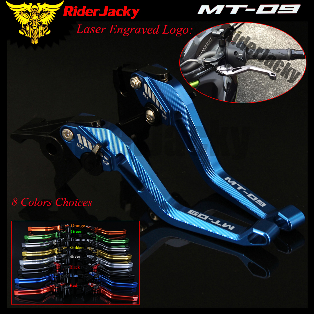 RiderJacky 3D Rhombus Hollow Adjustable Motorcycle Brake Clutch Levers For Yamaha FJ-09/MT-09 Tracer MT 09 2015-2018 2016 2017 for yamaha mt 09 mt 09 tracer 2014 2015 motorcycle adjustable folding extendable brake clutch levers fz 09 mt 09 sr not fj 09
