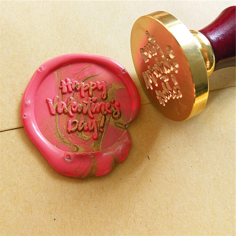 Happy Valentine's Day Wax Seal Stamp/floral wax sealing stamp holiday gift invitation seal wax set for holidays box set box kit new 8 inch tablet pc lcd display hd hj0801a 01e m1 a1 32001395 00 ips tablet pc lcd screen display panel glass free shipping