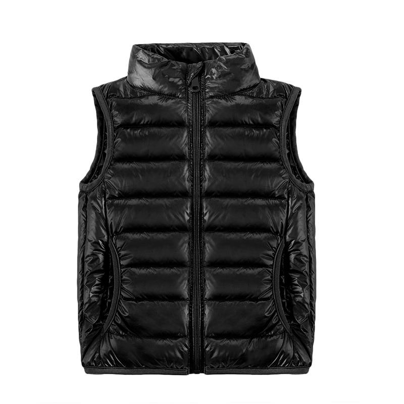 Image 2 - 2019 New Children Vests Winter Ultra Light White Duck Down Vest Coats Boys Girls Sleeveless Jacket Kids Windproof Warm Waistcoat-in Vests from Mother & Kids