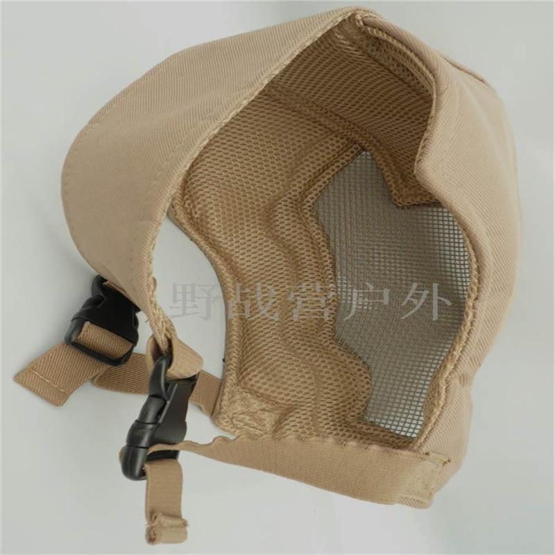 Full Face Airsoft turvavõrgu reguleeritav mask kaitseks sport - Laskmine - Foto 3