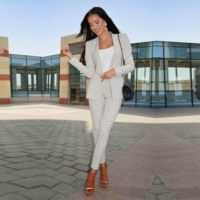 Strong-Willed Lake Blue Women Business Suits Formal Office Suits Work Slim Fit Female Touser Suit Ladies Formal Wear 2 Piece Suits Custom Made Clients First Pant Suits Suits & Sets