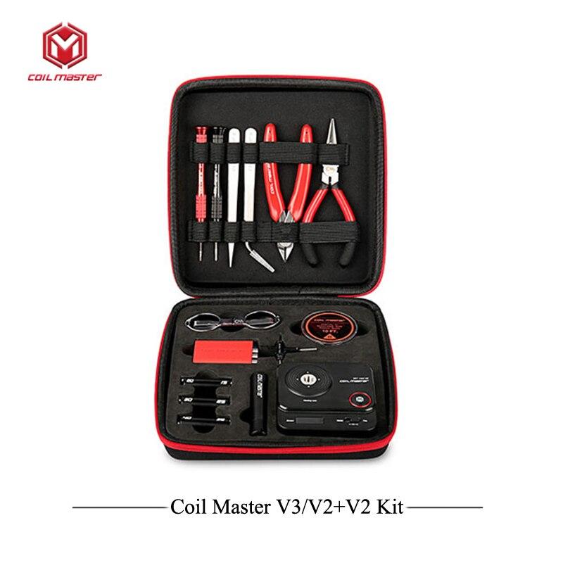 Update Spule Master V3 DIY Kit All-in-One CoilMaster V3 + Elektronische Zigarette RDA Zerstäuber spule werkzeug tasche Zubehör Vape vaper