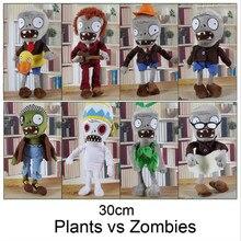 Новое поступление 30 см 12 » растения против зомби мягкие плюшевые игрушки куклы игры рисунок статуя детские игрушки для детей подарки бесплатная доставка