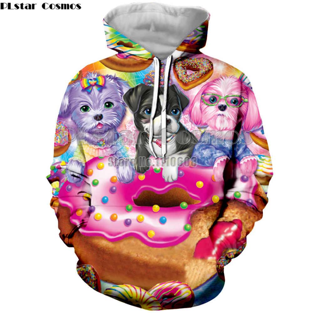 Модные Демисезонный тонкие толстовки Для мужчин/Для женщин 3D принт Лиза Фрэнк спортивная одежда с длинным рукавом Для мужчин пуловер Костюмы Большие размеры XS-7XL