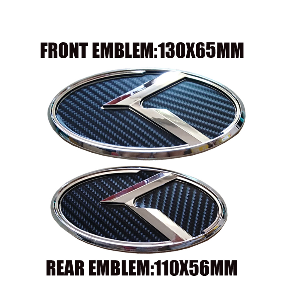 Black Carbon Fiber Car Sticker K logo Front Rear Emblem Decoration For KIA K5 2011-2013 Optima Forte 2009-2014 Senda
