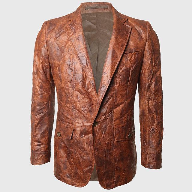 Hombres vintage casual blazer blazers solo botón caballero llanura trajes regular fit marrón mira la ciudad occidental de aturdimiento 2 grandes bolsillos