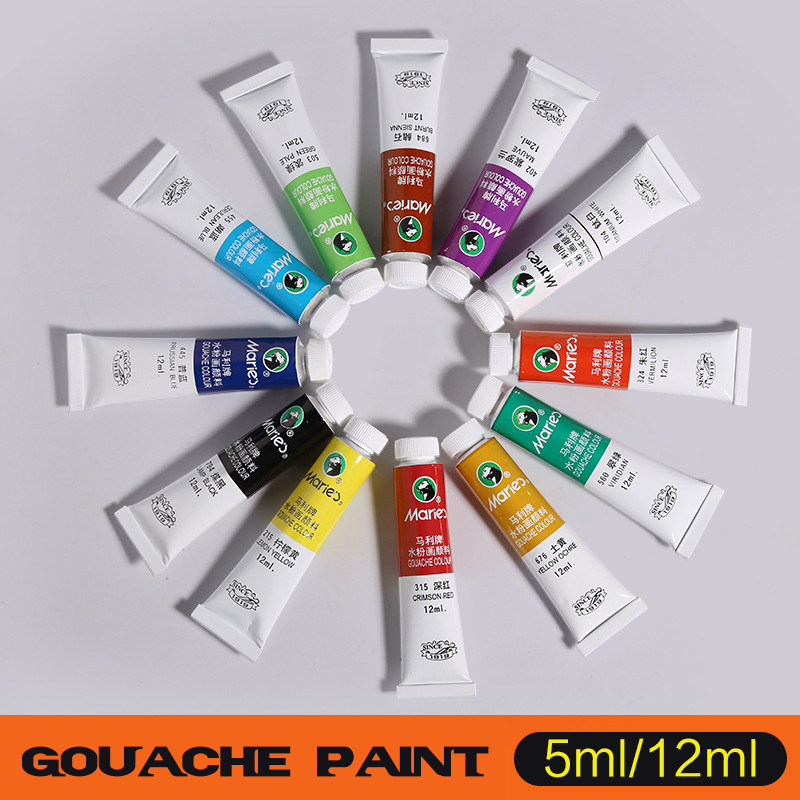 5ML 12ML Paint for Gouache Watercolor Paint Color Art Painting Paint Drawing Tools Waterc olours Painting Supplies все цены