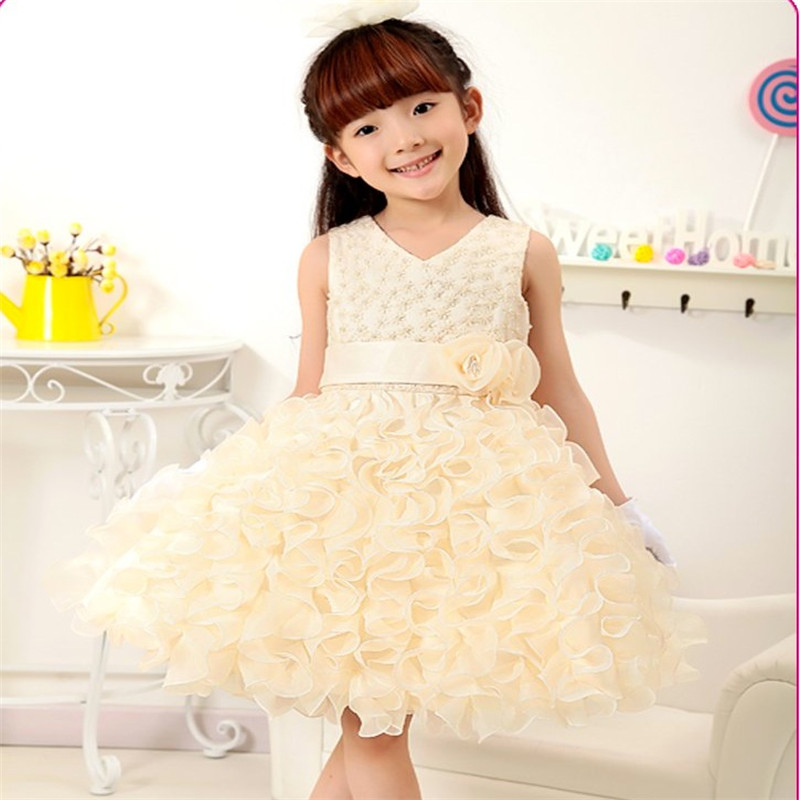 Retail Elegant Flower Girl Dresses For Weddings Girls First Communion Dresses Holy Kids Prom Dresses Evening Gowns 018