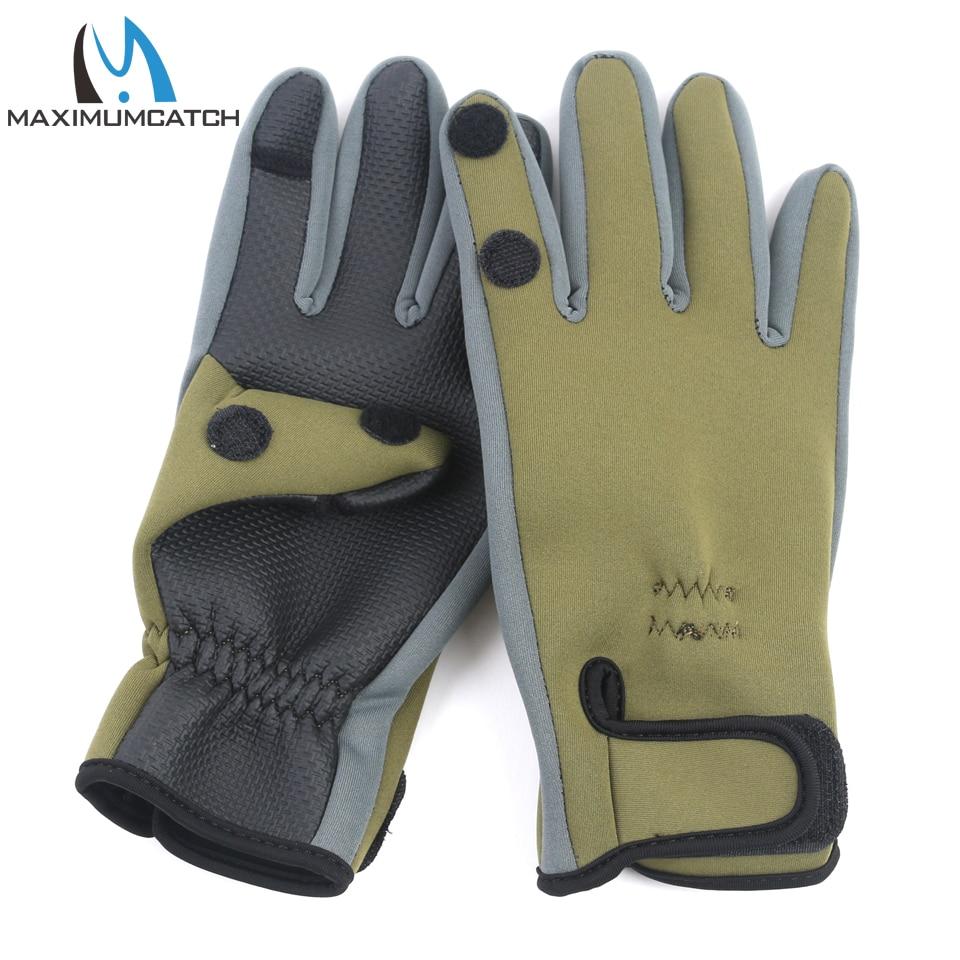 Maximumcatch 1 Pair Neoprene Fishing Gloves Waterproof Anti-Slip Fishing Gloves недорго, оригинальная цена