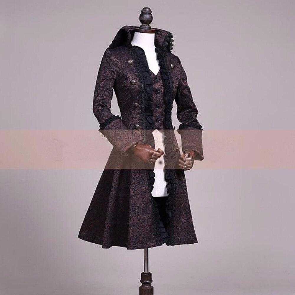 Robe De Nouveau Jacquard Cotume Longue Manteau Lolita Palais Volant Printemps Automne L'europe Cru Femmes Tranchée Slim 11xpPSfq