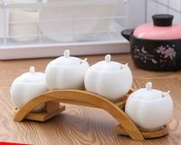 Creative ceramic seasoning jar for kitchen home salt box p mason jars kitchen canisters