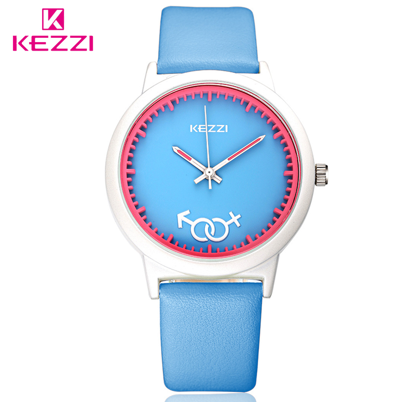 KEZZI Brand Fashion Candy Colors Jelly Boys Girls Watches Quartz Analog Rubber Band Students Sports Casual Gifts Watch Children