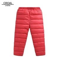 CROAL CHERIE 80 130cm Straight Winter Duck Down Pants Warm Children Boys Girls Pants Down Trousers