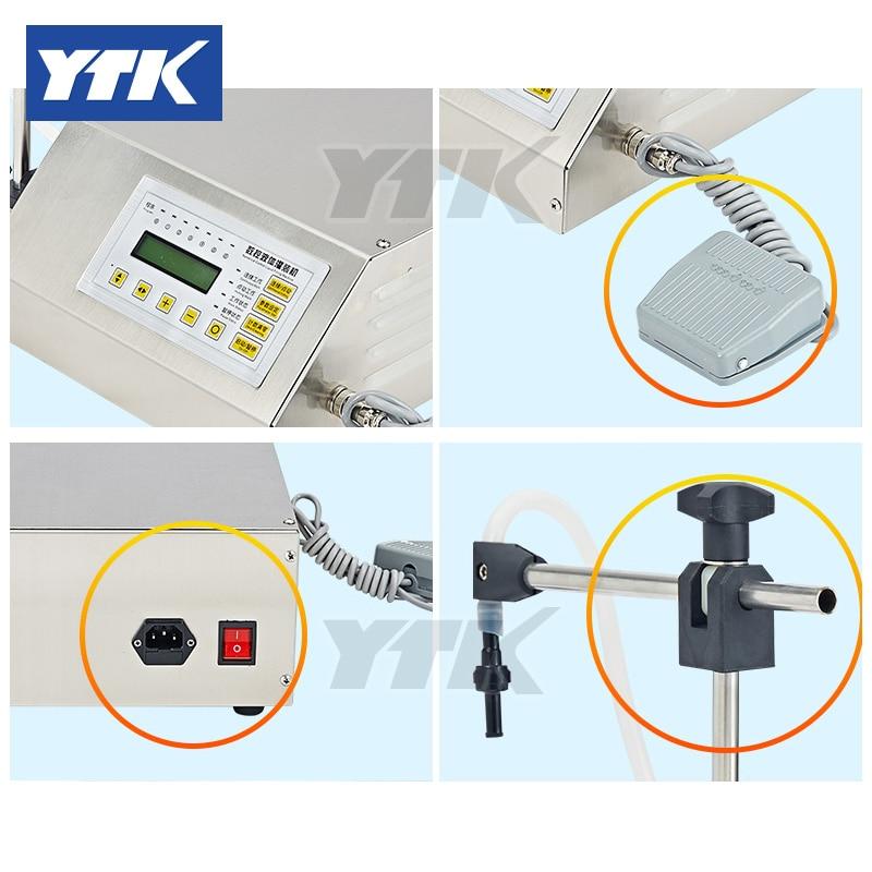 YTK 5-3500ml Water Softdrink Liquid Filling Machine Digital Control GFK160 Water Oil Perfume Milk Small Bottle Filler