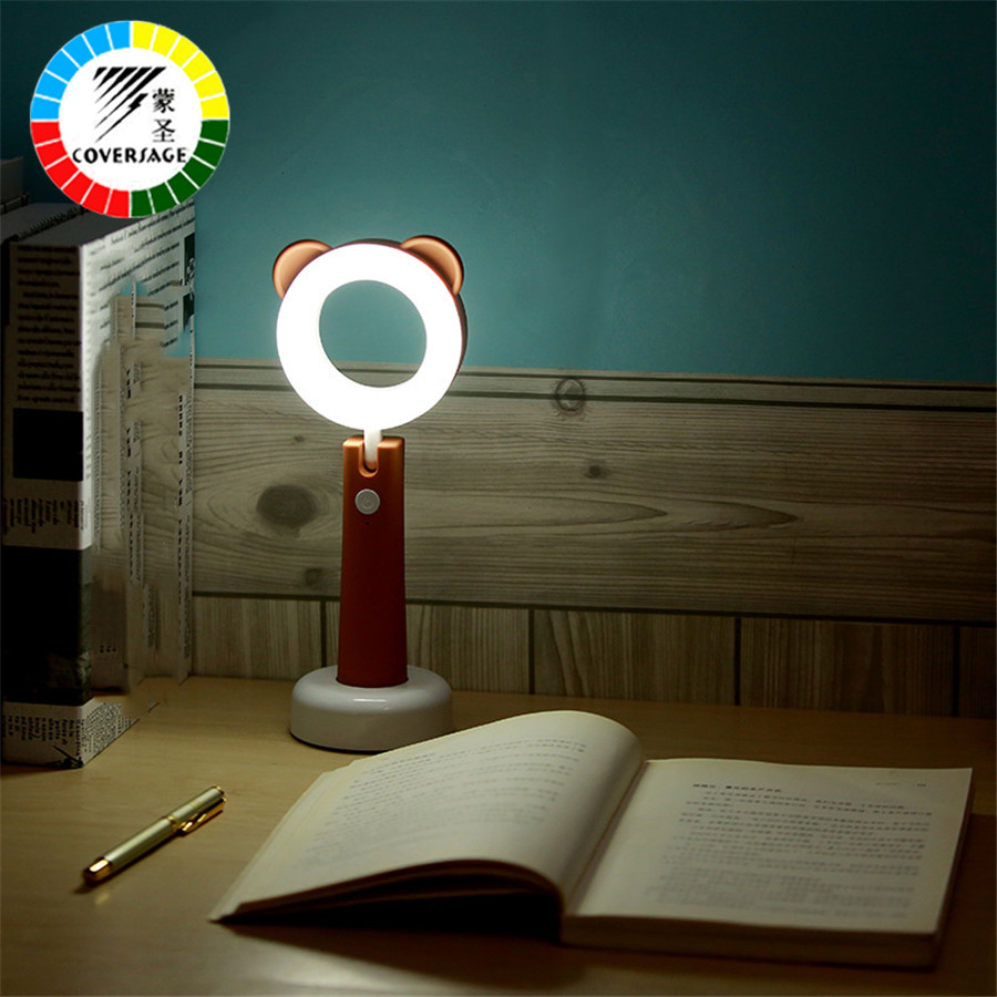 Coversage Led Night Light Rechargeable USB Reading Cute Table Desk Lamp Children Kids Baby Sleeping Book Bedroom Novel Lighting ball led night light projector usb rechargeable atmosphere desk table lamp for children baby kids gift bedside bedroom sleeping