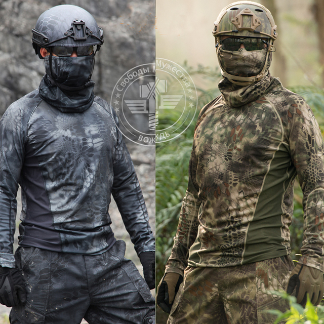 kryptek camouflage hunting clothes outdoor sports quick dry t shirt