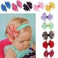 10PCs Babys Headband Elastic Wave Point Bowknot Photography Bebe Menina Flower Headbands Headband Toddler Girls Headwear