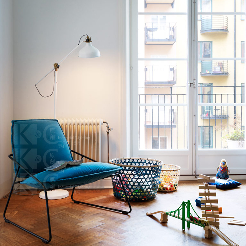 Nordic IKEA Copper Retro Floor Lamp Living Room Coffee Creative Den Diffuse White Shade On Aliexpress