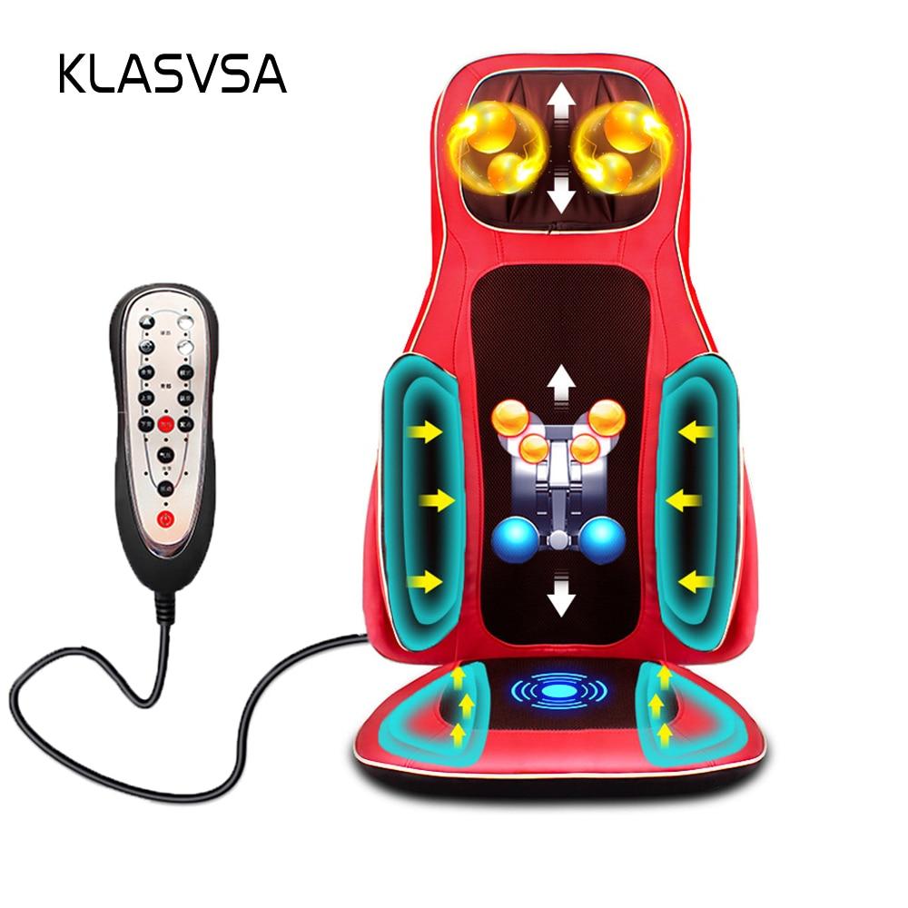 Cartoon physical therapy - Klasvsa Shiatsu Electric Airbag Heating Massage Chair Neck Back Infrared Physical Therapy Home Relax Massage Seat