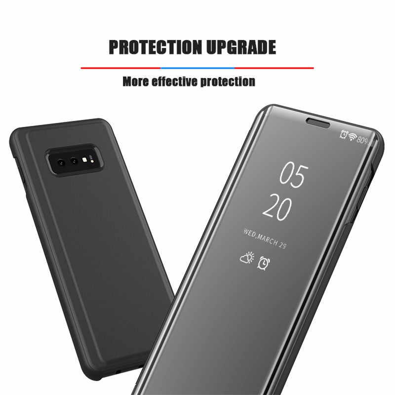 Умный зеркальный флип-чехол для телефона Samsung Galaxy S10 S9 S8 S7 S6 Edge Plus S10E Прозрачный чехол для Samsung Note 9 8