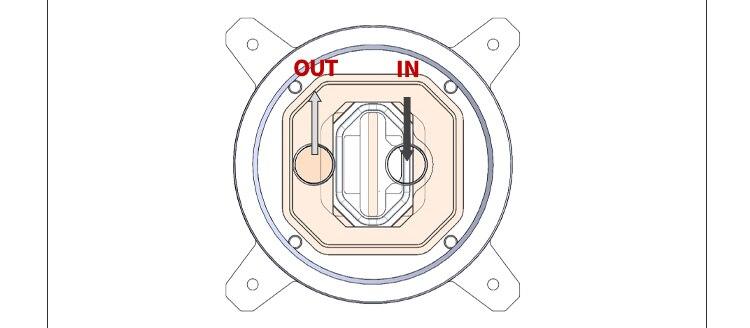 Купить с кэшбэком Barrow CPU Water Block use for INTEL LGA1150 1151 1155 1156/ X99 2011 / AMD AM3 AM4/ Radiator 5V GND to 3PIN Hearder Motherboard