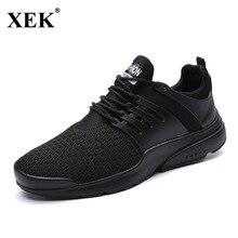 XEK 2018 New Light Running Sneakers For Men Flynitlys Free Racer Elastic Jogging Male White Red