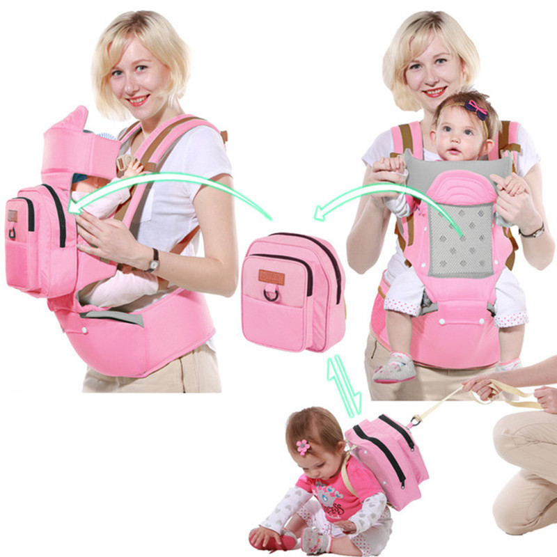 все цены на Multifunction Baby Carrier Anti-lost Toddler Backpack Sling Kids Hip Seat Newborns Kangaroo Hipseat With Diaper Bag Loading 2018 онлайн