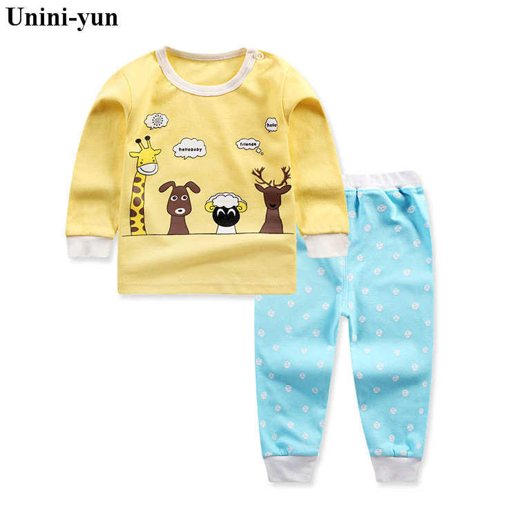 Autumn 2017 Newborn Baby Boy Clothes Long Sleeve Cotton T-shirt Tops +giraffe print Pant 2PCS Outfit Toddler Kids Clothing Set 3pcs newborn baby girl clothes set long sleeve letter print cotton romper bodysuit floral long pant headband outfit bebek giyim
